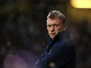 Everton manager David Moyes stares ferociously on December 22, 2012