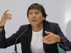 PSG executive Leonardo takes a press conference in Milan on July 7, 2011