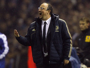 Chelsea interim manager Rafa Benitez on the touchline during the match against Leeds on December 19, 2012