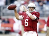 Cards Quarterback Brian Hoyer warms up against Chicago on December 23, 2012