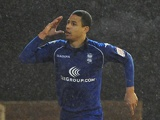 Birmingham defender Curtis Davies celebrates his winning goal against Barnsley on Boxing Day 2012
