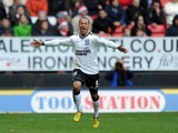 Ipswich striker DJ Campbell celebrates his opener against Charlton on December 26, 2012