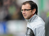 Hibernian manager Pat Fenlon on the touchline on December 29, 2012