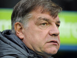 West Ham manager Sam Allardyce on the touchline on December 29, 2012