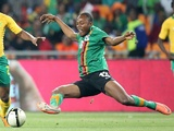 Zambia defender Stoppila Sunzu in action against South Africa on November 14, 2012
