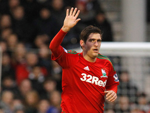 Danny Graham celebrates after scoring the opener against Fulham on December 29, 2012