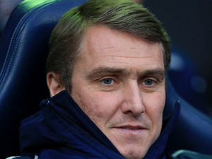 Birmingham City's manager Lee Clark watches his team play against Bolton on December 29, 2012