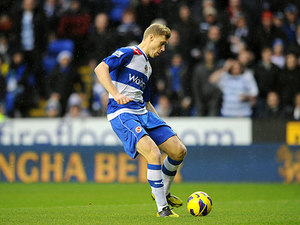 Pavel Pogrebnyak scores the opener against West Ham on December 29, 2012