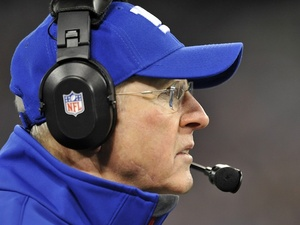 Giants coach Tom Coughlin on the sidelines against the Ravens on December 23, 2012