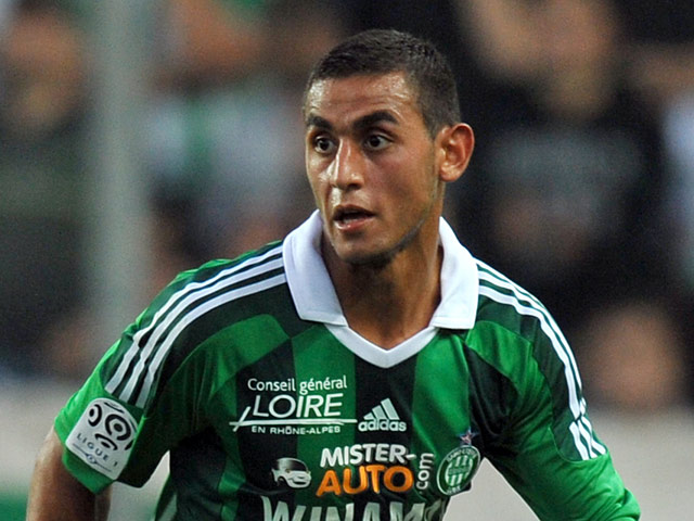 AS Saint-Etienne's Faouzi Ghoulam on October 1, 2011
