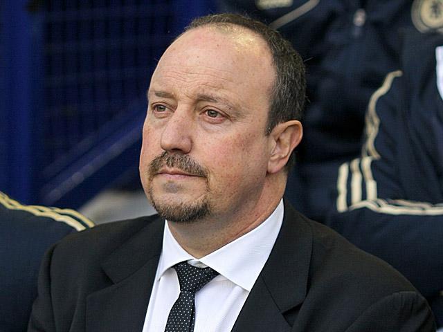 Chelsea interim manager Rafa Benitez during the match against Everton on December 30, 2012