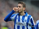 Andrea Orlandi celebrates opening the scoring against Newcastle on January 5, 2013