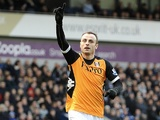 Fulham striker Dimitar Berbatov celebrates the first PL goal of 2013, following his goal against West Brom on January 1, 2013