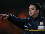 Mansfield boss Paul Cox during the FA Cup tie with Liverpool on January 6, 2013