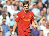 Sebastian Coates playing for Liverpool against Man City on August 26, 2012