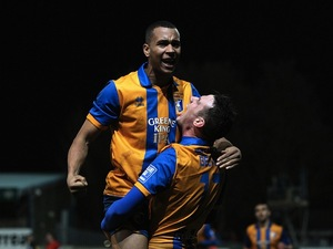 Mansfield's Matt Green celebrates his goal against Liverpool on January 6, 2013