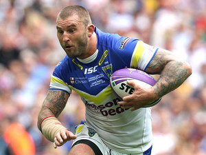 Warrington Wolves' Paul Wood on August 25, 2012