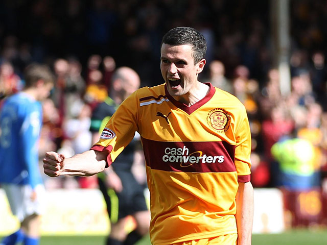 Motherwell's Jamie Murphy on April 28, 2012