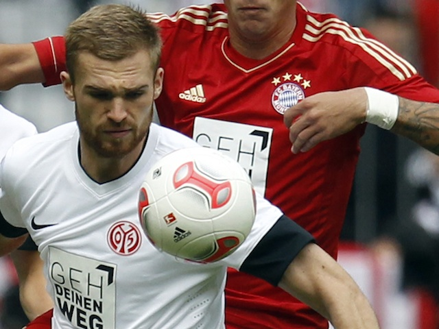 Mainz defender Jan Kirchhoff in action against Bayern on September 15, 2012