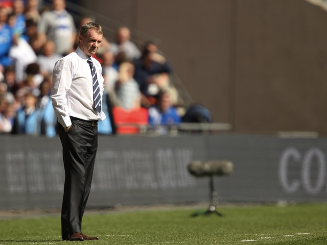 Ex-Chesterfield boss John Sheridan when he was manager back in March 2012