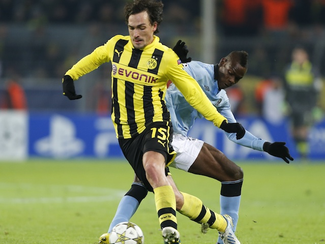Dortmund defender Mats Hummels in action against Manchester City on December 4, 2012