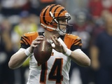 Bengals QB Andy Dalton in action against the Texans on January 5, 2013