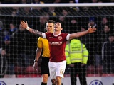 Barnsley striker Chris Dagnall celebrates his second goal in the win over Leeds on January 12, 2013