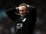 Villa manager Paul Lambert reacts to his side going 1-0 down against Southampton on January 12, 2013