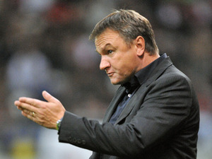 Bastia manager Frederic Hantz during his sides Ligue 2 match versus Stade de Reims on 20 September, 2011