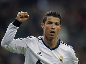 Real Madrid's Cristiano Ronaldo celebrates a goal against Celta Vigo on January 9, 2013