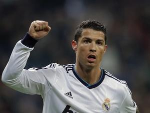 Real Madrid's Cristiano Ronaldo celebrates a goal against Celta