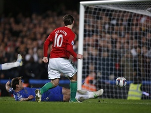 Swansea's Danny Graham scores a late goal against Chelsea on January 9, 2013