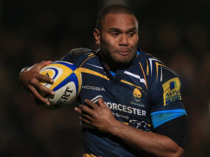 Worcester Warriors' Josh Drauniniu on January 4, 2013