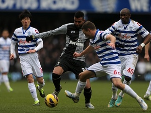 Spurs midfielder Sandro, in action against QPR, before he left the field injured on January 12, 2013