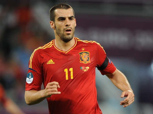 Spain's Alvaro Negredo in action against Portugal during Euro 2012 on June 27, 2012