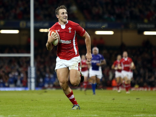 Wales' Ashley Beck in action against Samoa on November 16, 2012