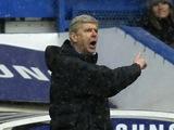Arsenal boss Arsene Wenger on the touchline at Stamford Bridge on January 20, 2013