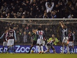 West Brom's Peter Odemwingie scores a late equaliser against Aston Villa on January 19, 2013