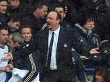 Chelsea interim manager Rafa Benitez on the touchline against Arsenal on January 20, 2013