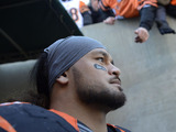 Cincinnati Bengals middle linebacker Rey Maualuga prior to his sides match with the Baltimore Ravens on December 30, 2012