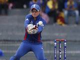 England women's wicketkeeper Sarah Taylor in action on October 7, 2012