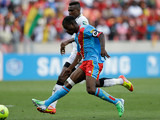 Congo DR's Tresor Mputu scores the equaliser against Ghana on January 20, 2013