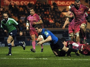 Leinster's Brian O'Driscoll scores a try in the game against Exeter on January 19, 2013
