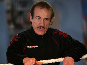 Enzo Calzaghe, father of Joe, during a training session on November 27, 2008