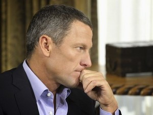 Lance Armstrong during his interview with Oprah Winfrey on January 14, 2013