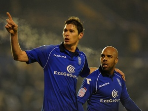 Birmingham striker Nikola Zigic celebrates a late equaliser against Brighton on January 19, 2013