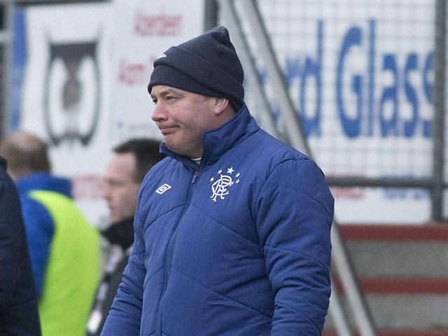 Rangers boss Ally McCoist on the touchline during the match against Peterhead on January 20, 2013