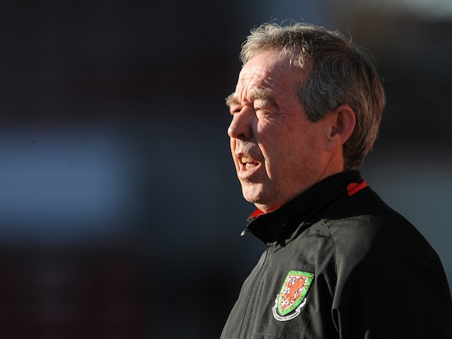 Brian Flynn, when manager of Wales under 21s, on February 29, 2012