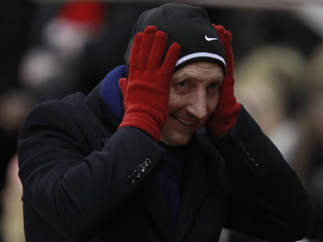 Crystal Palace manager Ian Holloway prior to kick off in his sides FA Cup third round replay match with Stoke City on January 15, 2013