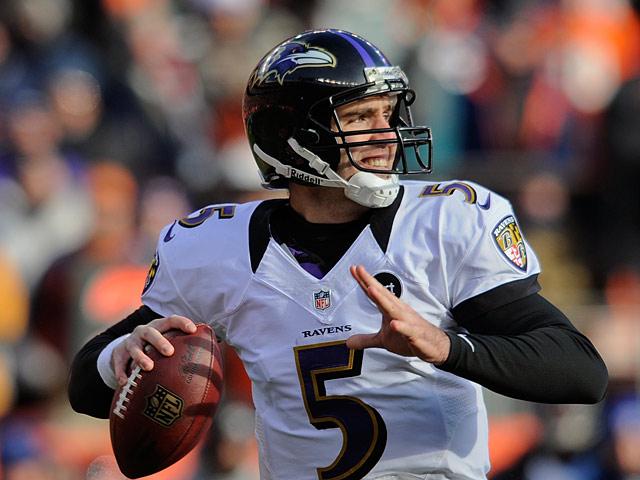 Baltimore Ravens' Joe Flacco on January 12, 2013